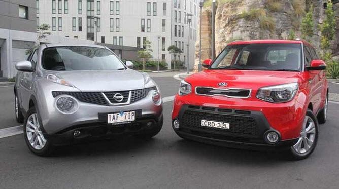Nissan Juke и Kia Soul