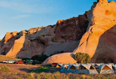 Здесь, в палатой ном лагере мы заночевали