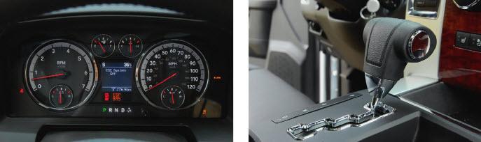 Америка с Европой. Чисто по-американски щиток приборов под завязку наполнен шкалами и индикаторами, а вот селектор коробки передач под рулем есть только у дизельных версий, у бензиновых - по-европейски на тоннеле.