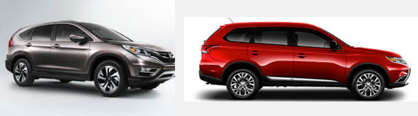 Что больше Mitsubishi Outlander, или Honda CR-V