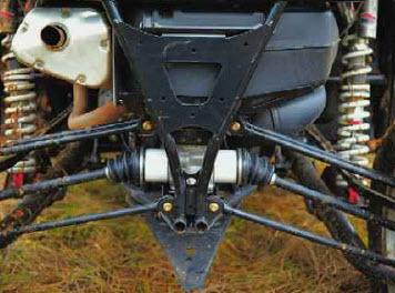 Сложная многорычажная конструкция задней подвески - фирменная отличительная особенность Wild Cat.