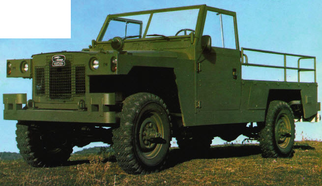 Испанский Militar отличался от английского прототипа Land Rover Lightweight оригинальным дизайном передка, отсутствием бортов и модификацией с длинной базой в 109 дюймов