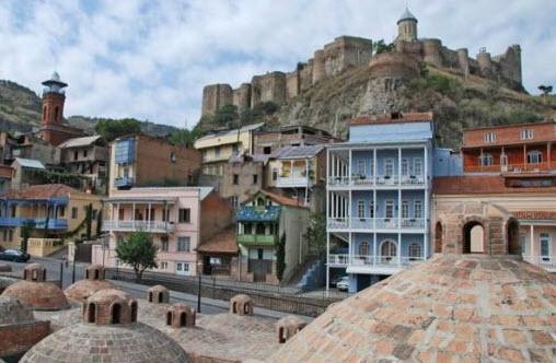 Вид на страый Тбилиси