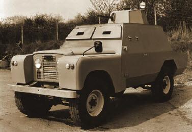 Ирландский броневик. Специально для службы в горячем Белфасте выпускались легкие бронеавтомобили на базе Land Rover. Наиболее совершенными были машины фирмы Short Brothers & Harland - Shorland с башней от более крупного броневика Ferret (1964 год).