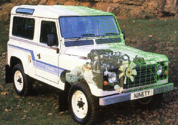 Почти Range Rover. Land Rover Ninety County 1984 года в максимальной комплектации мог похвастаться V8 под капотом.