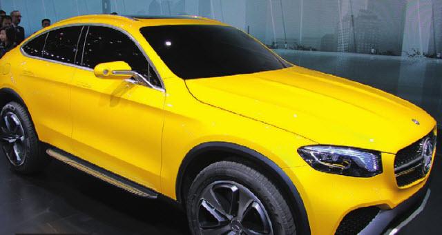 Вектор задан! Примерно так будет выглядеть Mercedes GLC Coupe - главный конкурент баварского Х4.